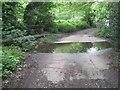 TQ0089 : Gerrards Cross: Coldharbour Farm lane ford by Nigel Cox