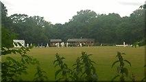 TQ0866 : Spelthorne Cricket Club by James Emmans