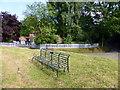 TL9938 : 1935 Silver Jubilee Seat at Polstead Pond by PAUL FARMER