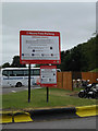 SU3076 : Parking sign at Membury Service Area by Adrian Cable