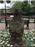 SJ8545 : Newcastle-under-Lyme: roundabout art (3) by Jonathan Hutchins