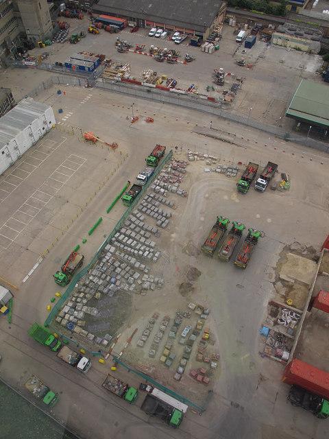 Contractors yard at Silvertown