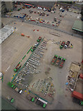 TQ3980 : Contractors yard at Silvertown by Stephen Craven