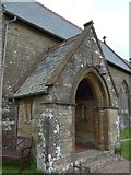 SS6644 : Christ Church, Parracombe: porch by Basher Eyre
