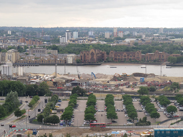 View across the North Greenwich Peninsula