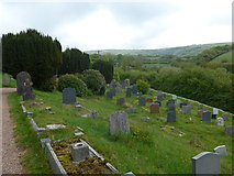 SS6644 : Christ Church, Parracombe: churchyard (v) by Basher Eyre