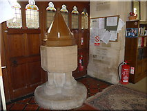 SS6644 : Christ Church, Parracombe: font by Basher Eyre