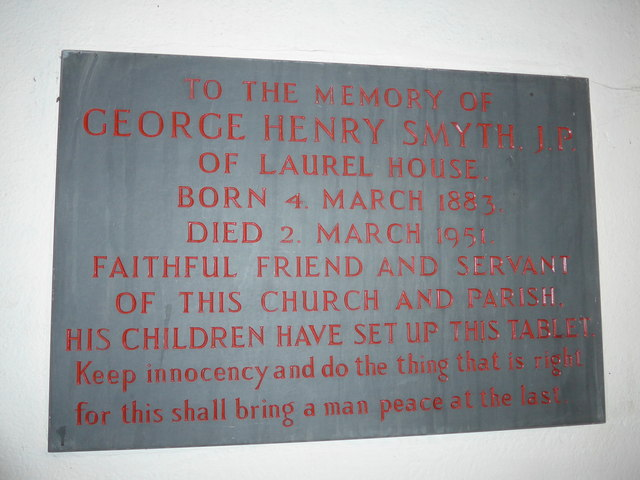 Christ Church, Parracombe: memorial (E)