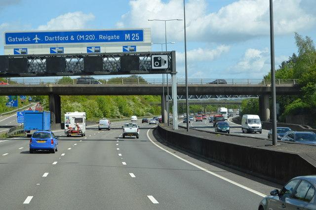 Junction 9, M25