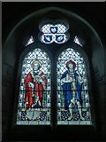 SS6644 : Christ Church, Parracombe: stained glass window (i) by Basher Eyre