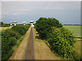 TL4054 : Radio telescope from Barton Road by Hugh Venables