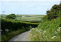 SS2322 : The road to Stoke and Hartland, Devon by Roger  Kidd
