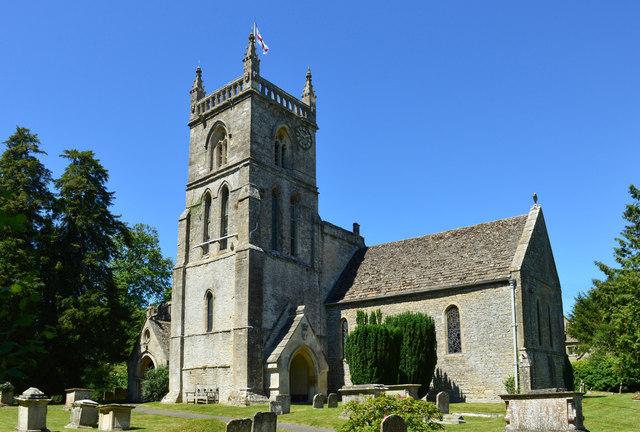 Church of St John the Baptist, Coln St Aldwyn's, Gloucestershire