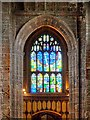 SJ8398 : West Tower and St Mary Window, Manchester Cathedral by David Dixon
