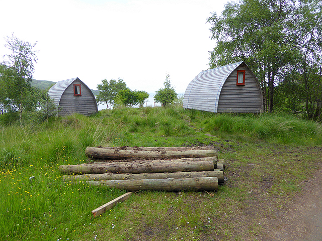 Camping cabins at Kinloch