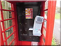 SO5306 : Inside a disused telephone box, Whitebrook by Jaggery