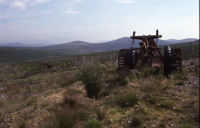 Forestry Plough on Leathad nan Toll