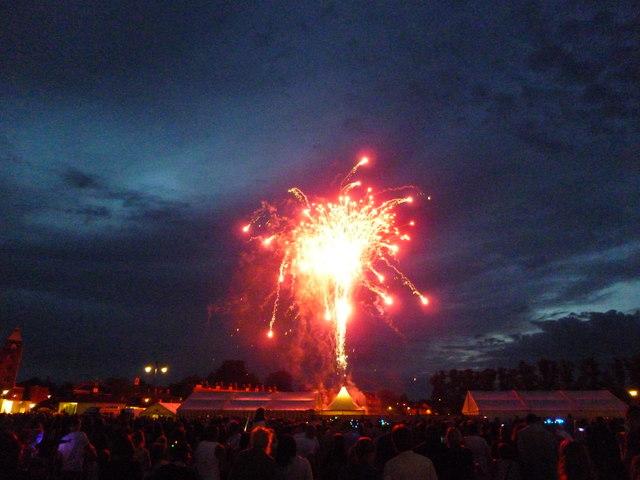Firework display at The Big Weekend, Cambridge - No1