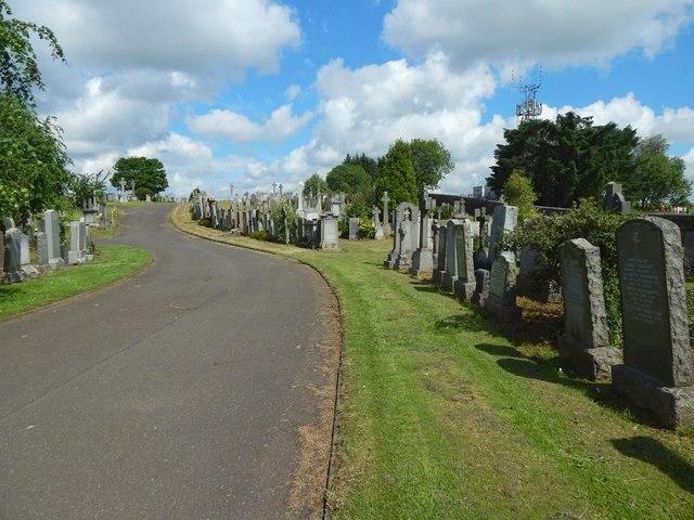 New Kilpatrick Cemetery: eastern boundary