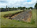 NS5572 : New Kilpatrick Cemetery: base of the Antonine Wall by Lairich Rig
