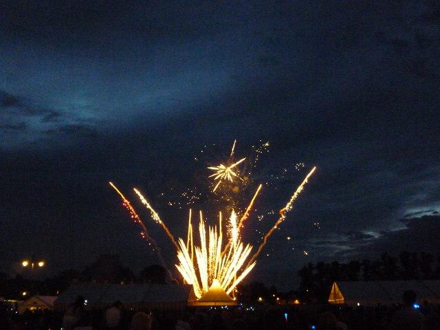 Firework display at The Big Weekend, Cambridge - No 3