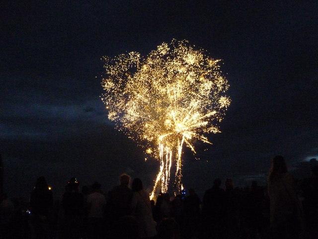 Firework display at The Big Weekend, Cambridge - No 4