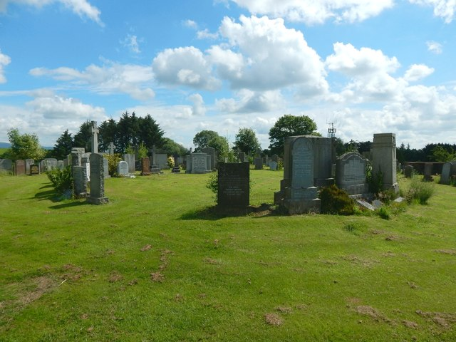 New Kilpatrick Cemetery: the summit of the hill