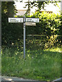 TM3072 : Roadsign on Bickers Hill Road by Adrian Cable