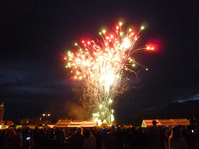 Firework display at The Big Weekend, Cambridge - No 5