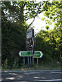 TM1172 : Roadsigns on the A140 Ipswich Road by Adrian Cable