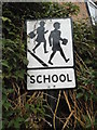 SU7691 : Pre-Worboys school sign, Turville by David Howard