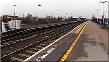 SU5290 : Platform 1, Didcot Parkway railway station by Jaggery