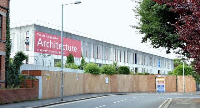 Former Science Library, Queen's University, Belfast - July 2015(1)