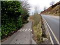 SS8695 : Cycle route from Cymmer towards Maesteg by Jaggery