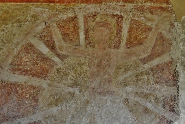 """Hardham: St. Botolphs Church: The """"Lewes Group"""" 12th century wall paintings"""