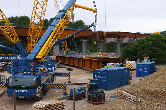 Lune West Bridge under construction
