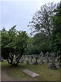 SU8363 : St John the Baptist, Crowthorne: churchyard (a) by Basher Eyre