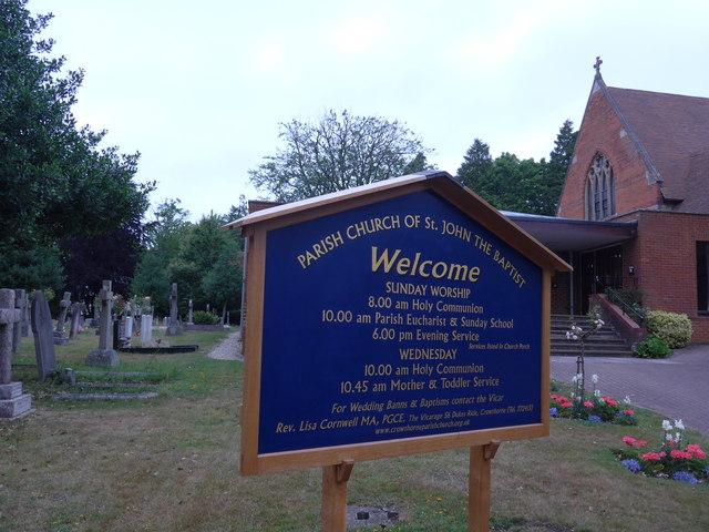 St John the Baptist, Crowthorne: churchyard (e)
