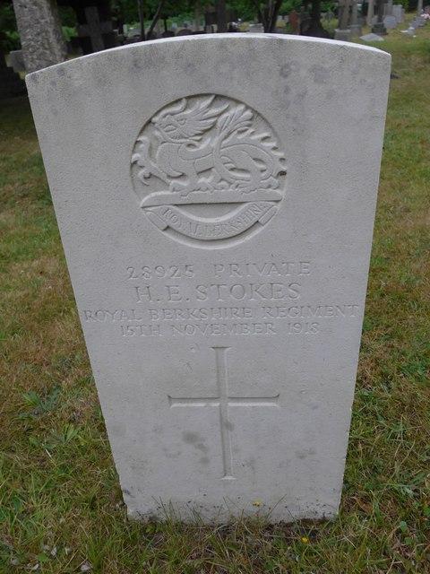 St John the Baptist, Crowthorne: CWGC stone (a)