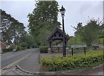 SU8363 : St John the Baptist, Crowthorne: lych gate by Basher Eyre