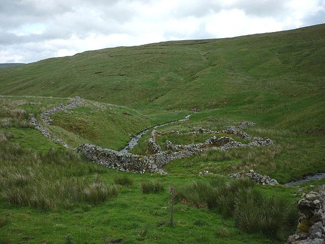 Ruined sheepfold, Cosh Beck Head
