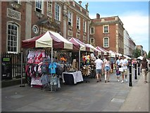 SO8554 : Market stalls on Worcester's High Street by Philip Halling