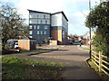 SP3477 : Touchstone Court flats, Whitley Village, Coventry by Robin Stott