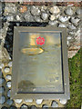 TG1216 : The brass War Memorial at Attlebridge by Adrian S Pye