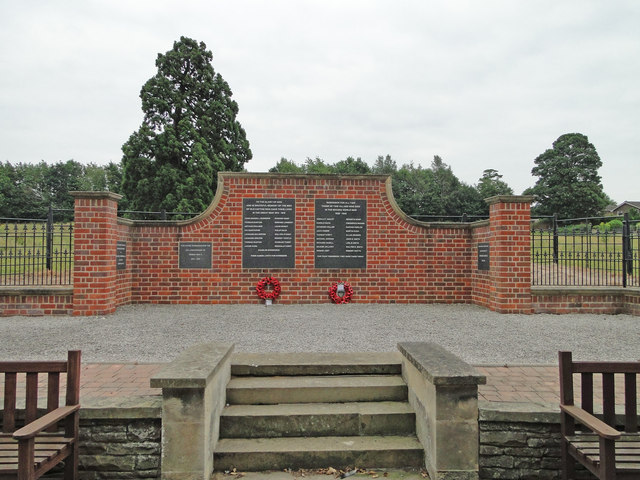 The War Memorial wall at Old Catton