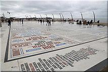 SD3036 : The Comedy Carpet on Blackpool Promenade by Garry Cornes