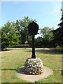TG1313 : Ringland Village sign by Adrian Cable