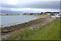 NG8788 : Sea shore near the Aultbea Hotel by Nigel Brown