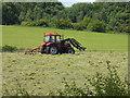 NY6722 : Turning the hay near Rising Sun Farm by Oliver Dixon