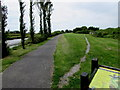 SN4006 : Track towards Glan yr Afon Local Nature Reserve, Kidwelly by Jaggery